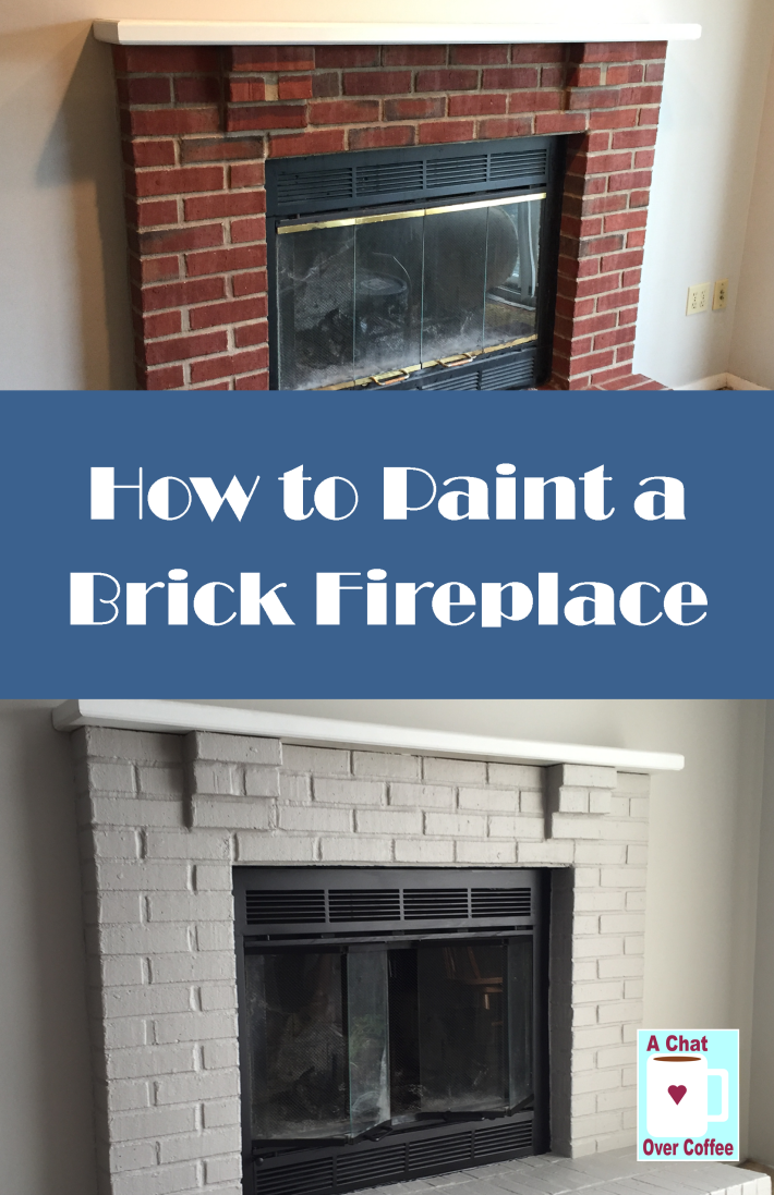 You Can Do It Learn How To Paint A Brick Fireplace With A