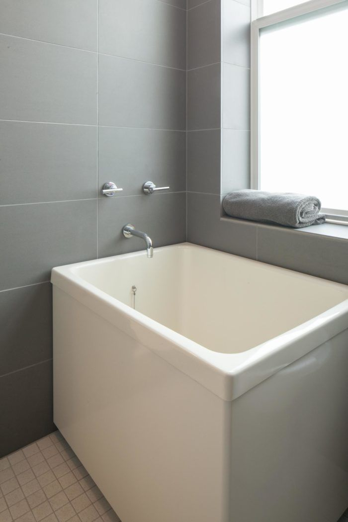 Bathroom Here S A Deep Tub Under Window My Present Dilemma Is Shower In Front Of Silled Very Small How To Have