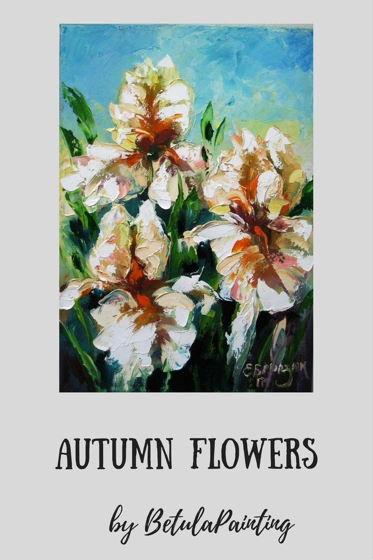 Thick textured impasto painting iris flower palette knife painting white flowers painting spring flowers oil on canvas white irises art mightylinksfo