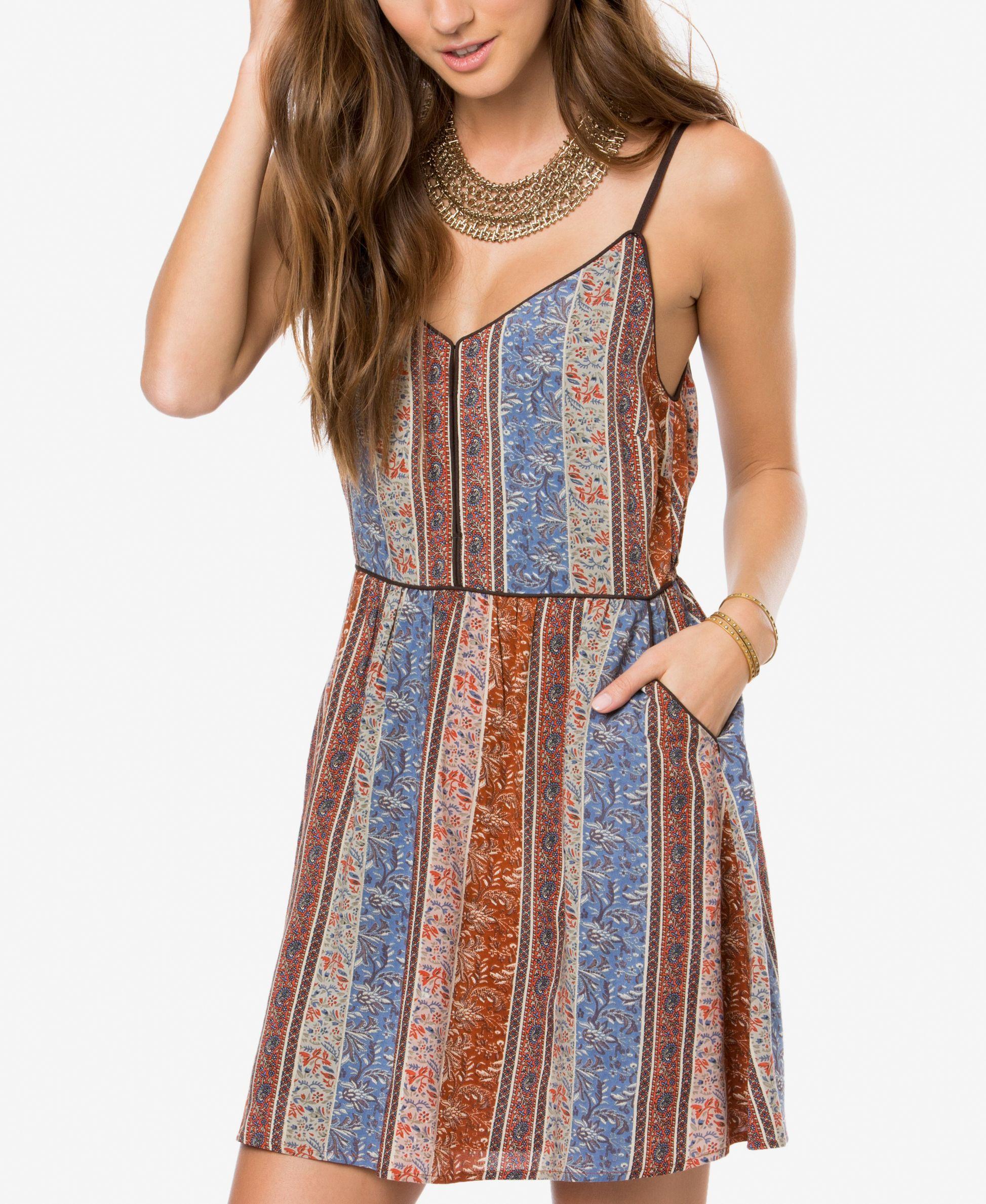 O'Neill Juniors' Anitta Printed Slip Dress