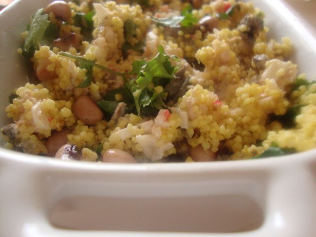 As Minhas Receitas: Saladinha de Couscous com Feijão Frade e Pasta de Atum