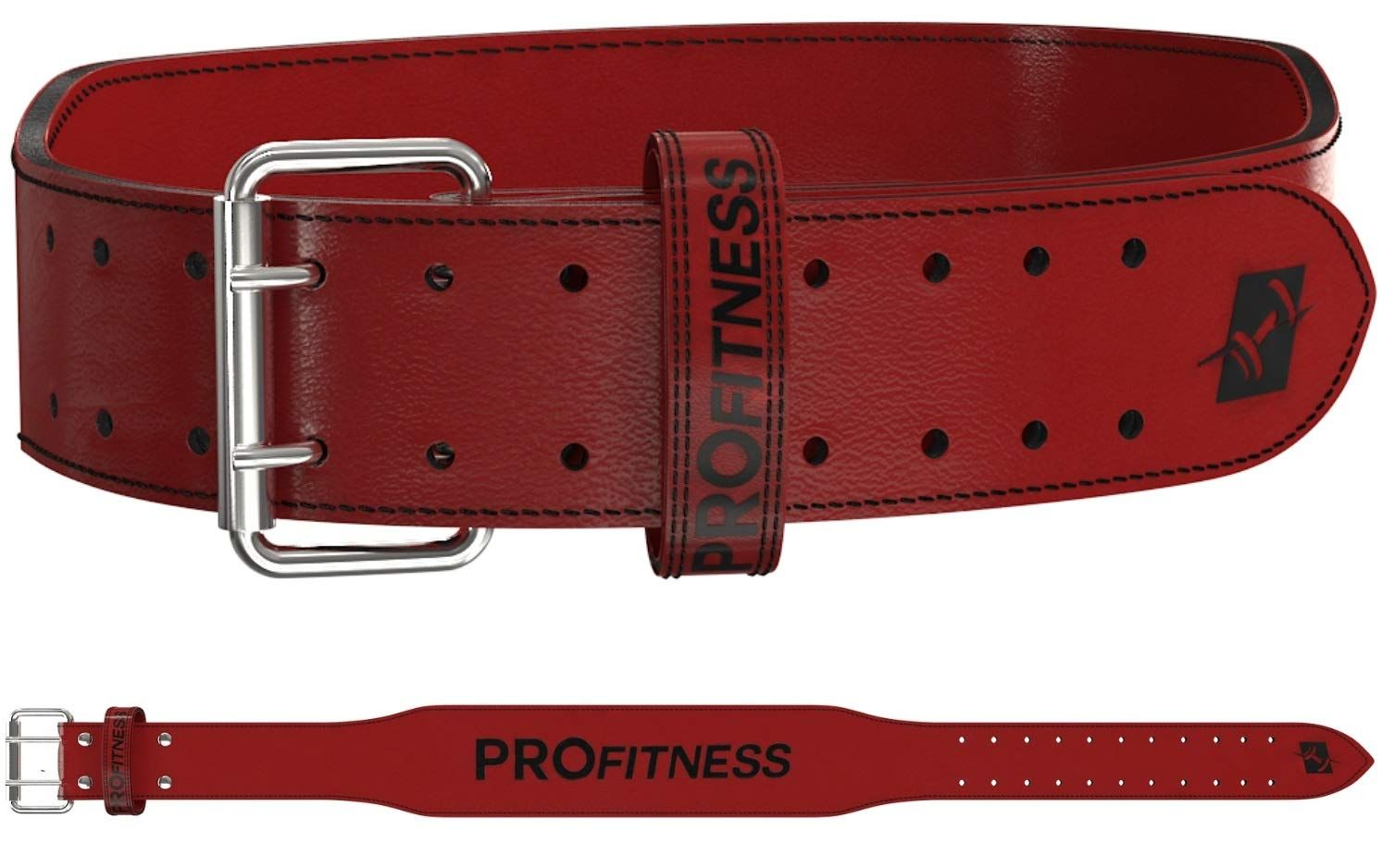 Weight Lifting Belt Training Gym Fitness Bodybuilding Back Support Workout Red