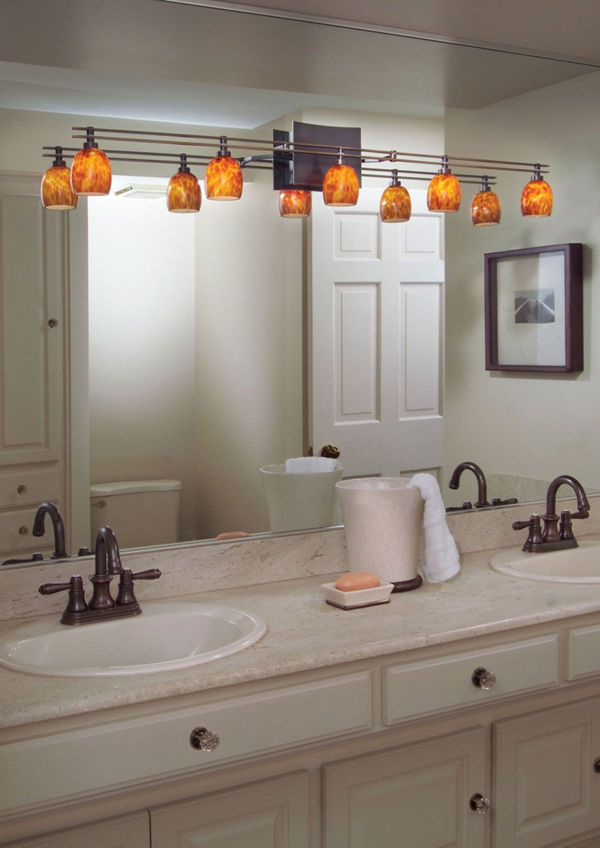 Delightful Track Lighting In A Small Bathroom