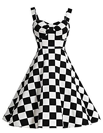 Dresstells 1950s Retro Audrey Swing Pinup Rockabilly Dress