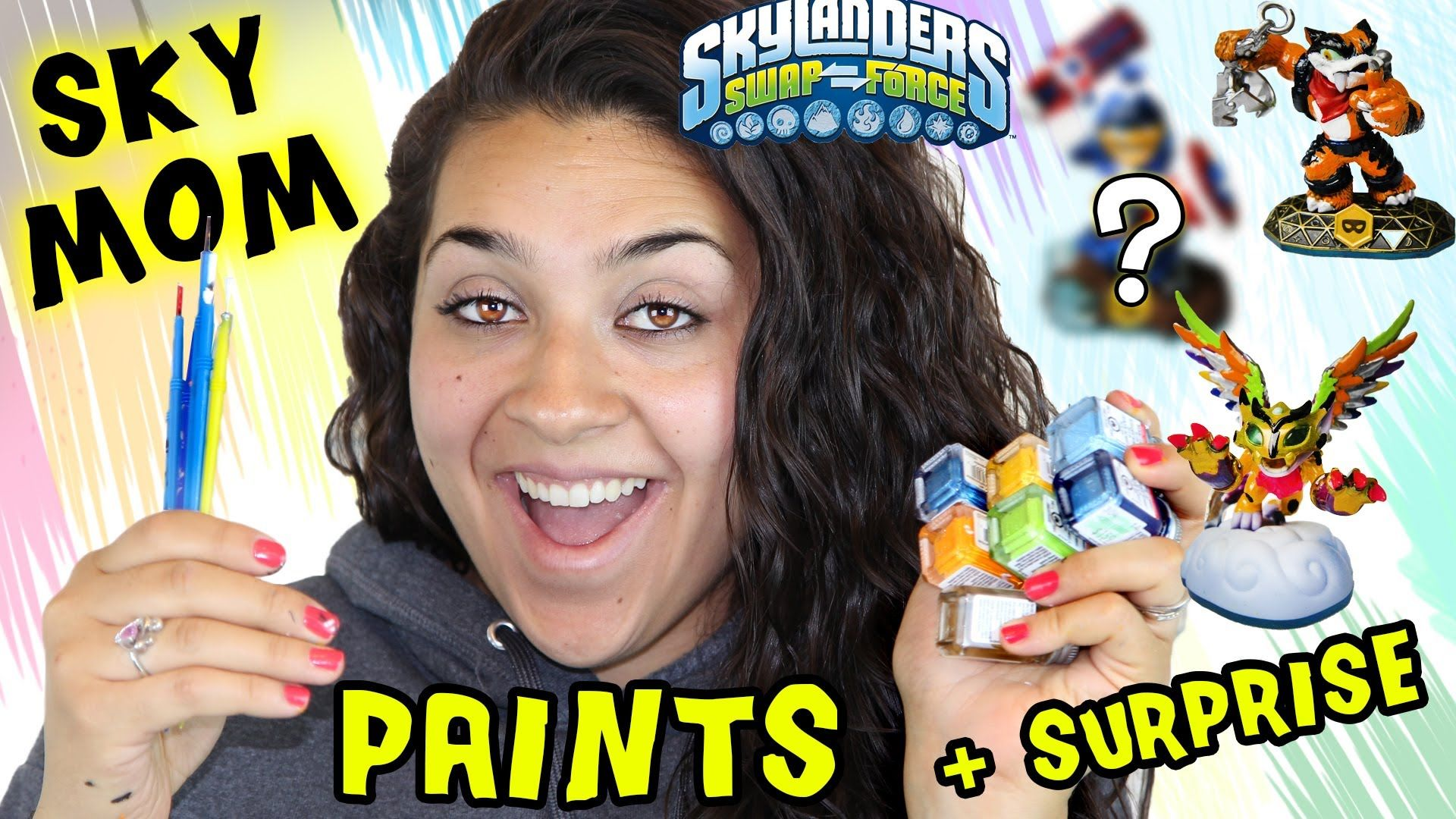 Sky Mom Paints Custom Skylanders + Surprise (Renaming Contest?) Awesome ...
