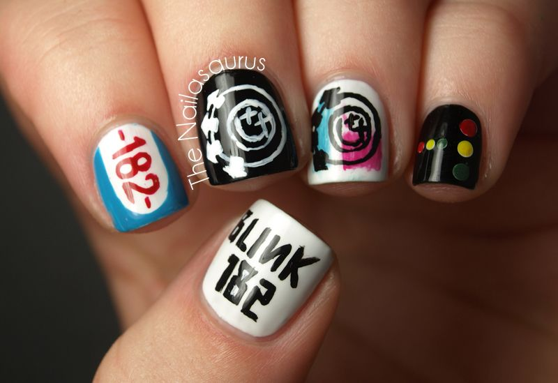 Blink 182 Nail Art What S My Age Again