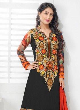 6858ad7d90 Marvelous Designer Salwar Suit by Heena Khan | Anarkali suit