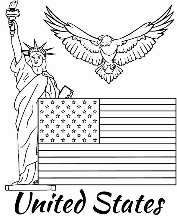 United States Flag Coloring Sheets in 2020 | American flag ...