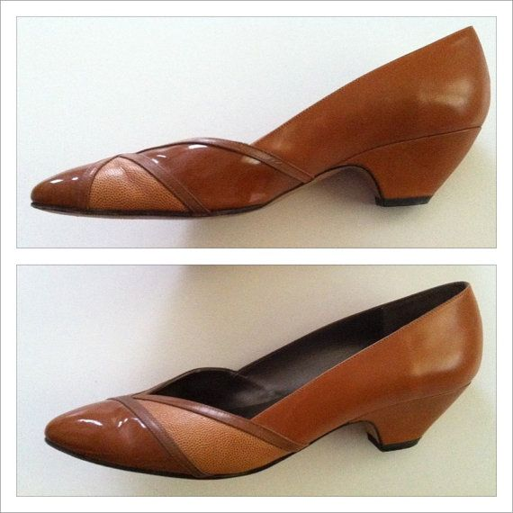 Vintage Steso Meucci pumps Size 9 1/2  Caramel by LoLoMakes, $30.00