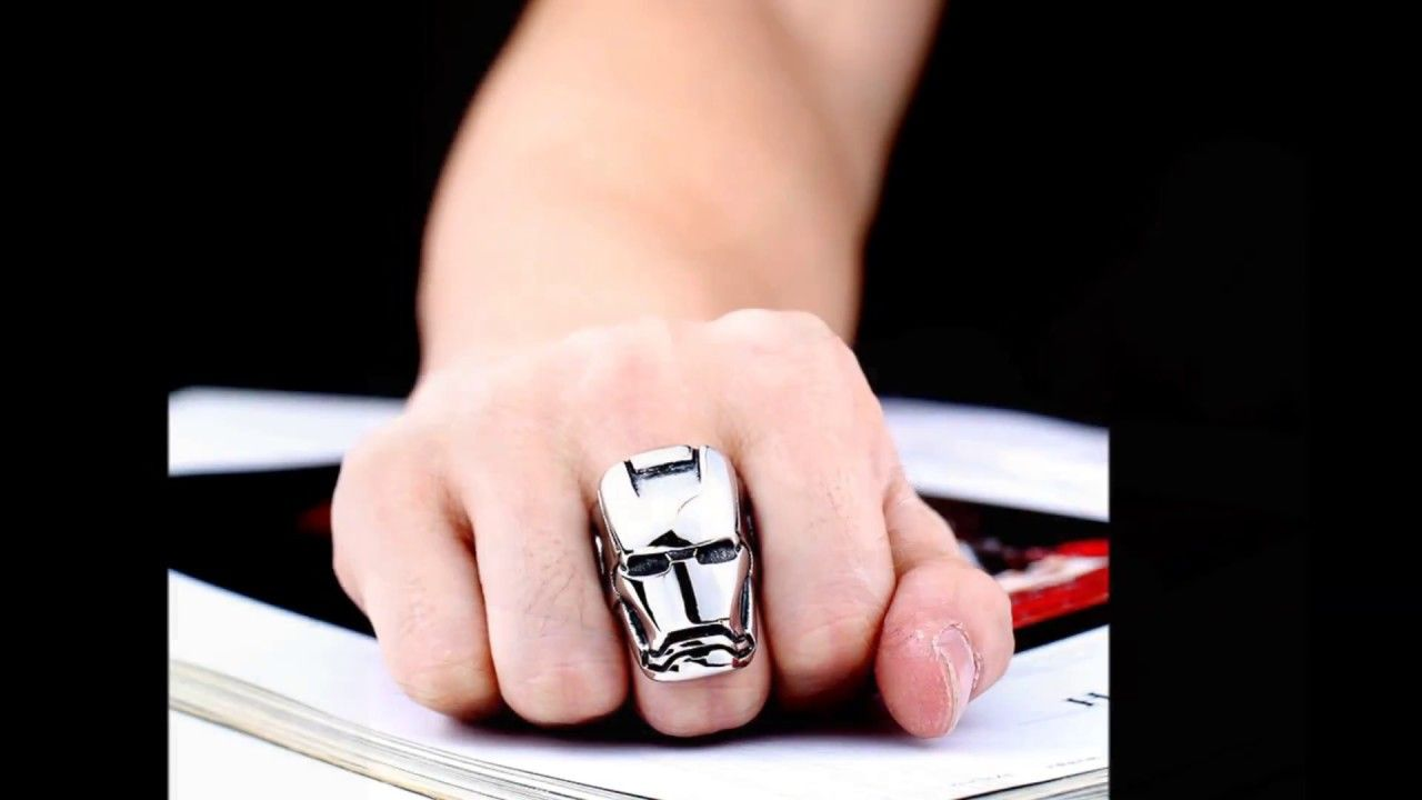 Avengers Infinity War Iron Man Stainless Steel Ring | Iconic Pins ...