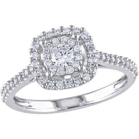 Jewelry Double Halo Engagement Ring Halo Diamond Engagement