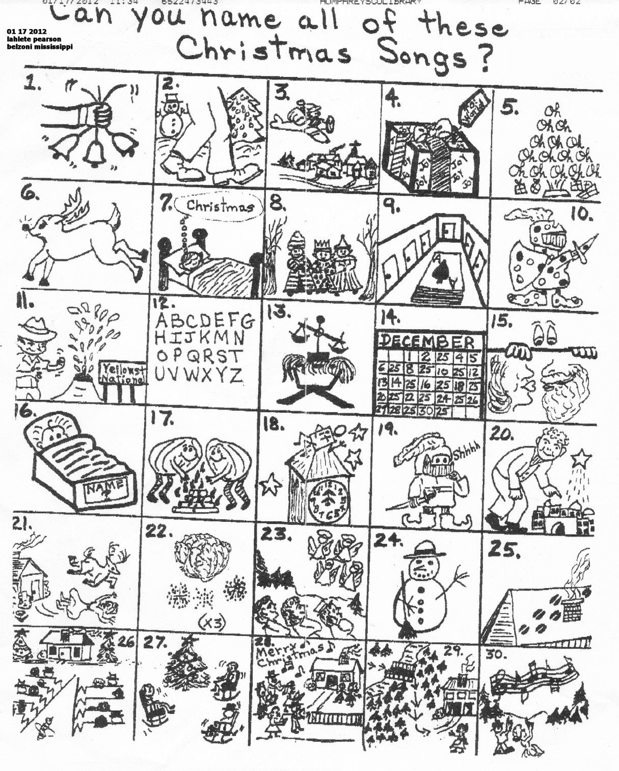 worksheet Christmas Carol Guess Worksheet the original puzzle holidayparty ideas pinterest church puzzle