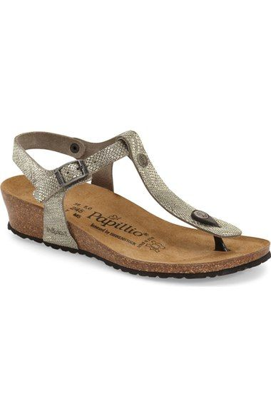 7544cce3dc6 BIRKENSTOCK Papillio By Birkenstock  Ashley  T-Strap Wedge Sandal (Women).   birkenstock  shoes  sandals