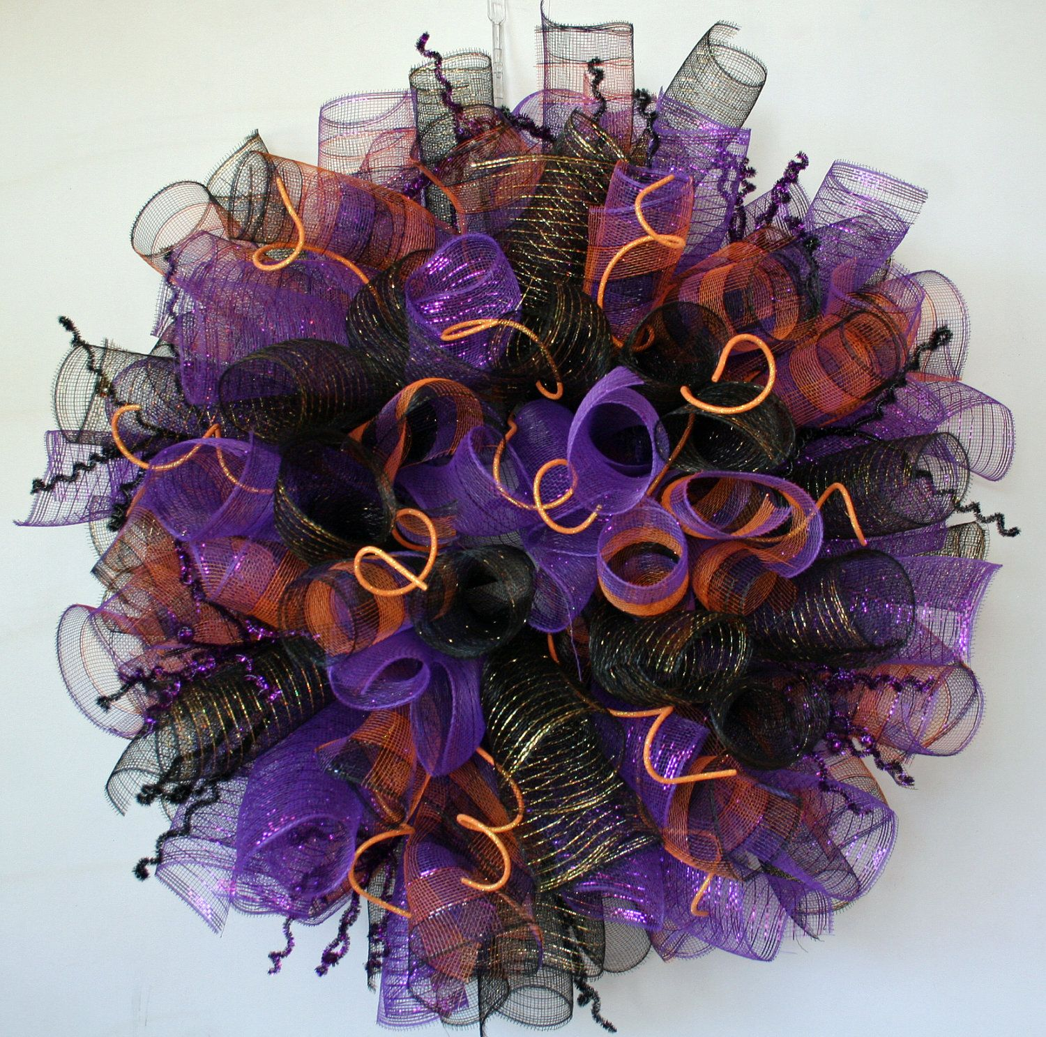 Halloween Deco Mesh Wreath  Google Search