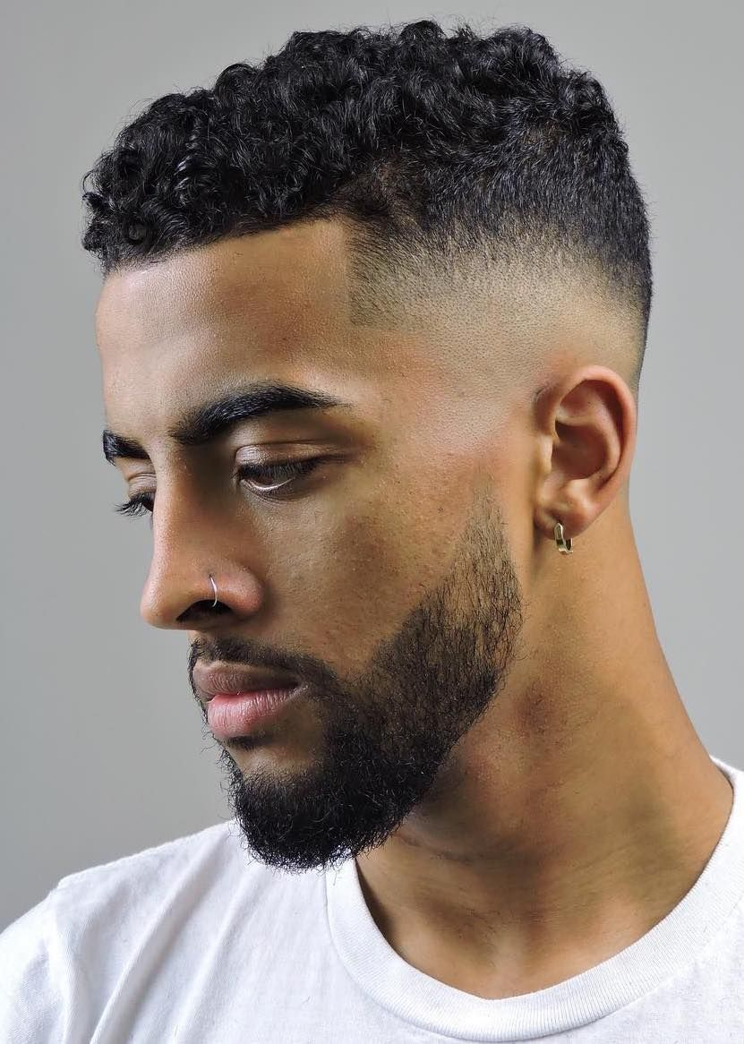 40 Modern Men S Hairstyles For Curly Hair That Will Change Your Look Mens Short Curly Hairstyles Curly Hair Men Fade Haircut Curly Hair