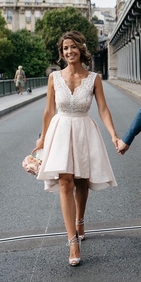 simple short wedding dress