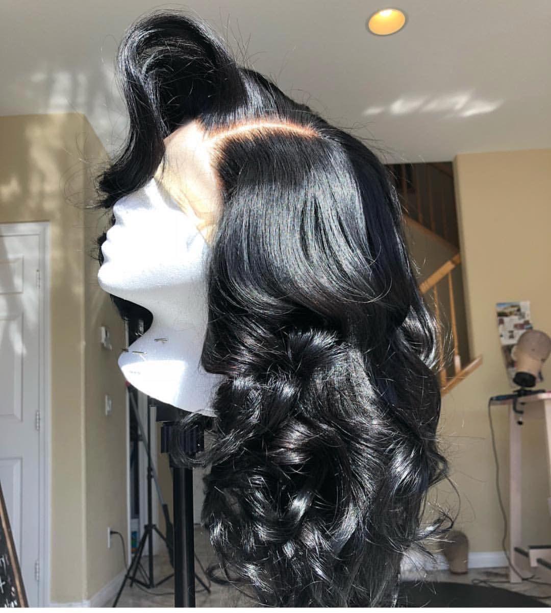 Pin by chyna reid on hair pinterest wig black girls hairstyles