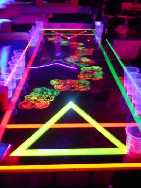 glow in the dark beer pong table drinking games beer pong rh pinterest com glow in the dark beer pong table diy american flag beer pong table glow in the dark