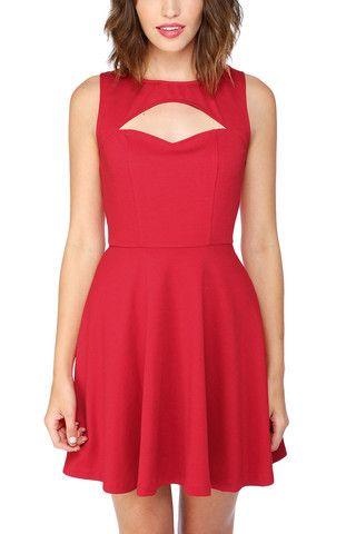 Jack by BB Dakota Waldorf Dress in Red