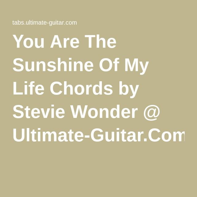You Are The Sunshine Of My Life Chords By Stevie Wonder Ultimate