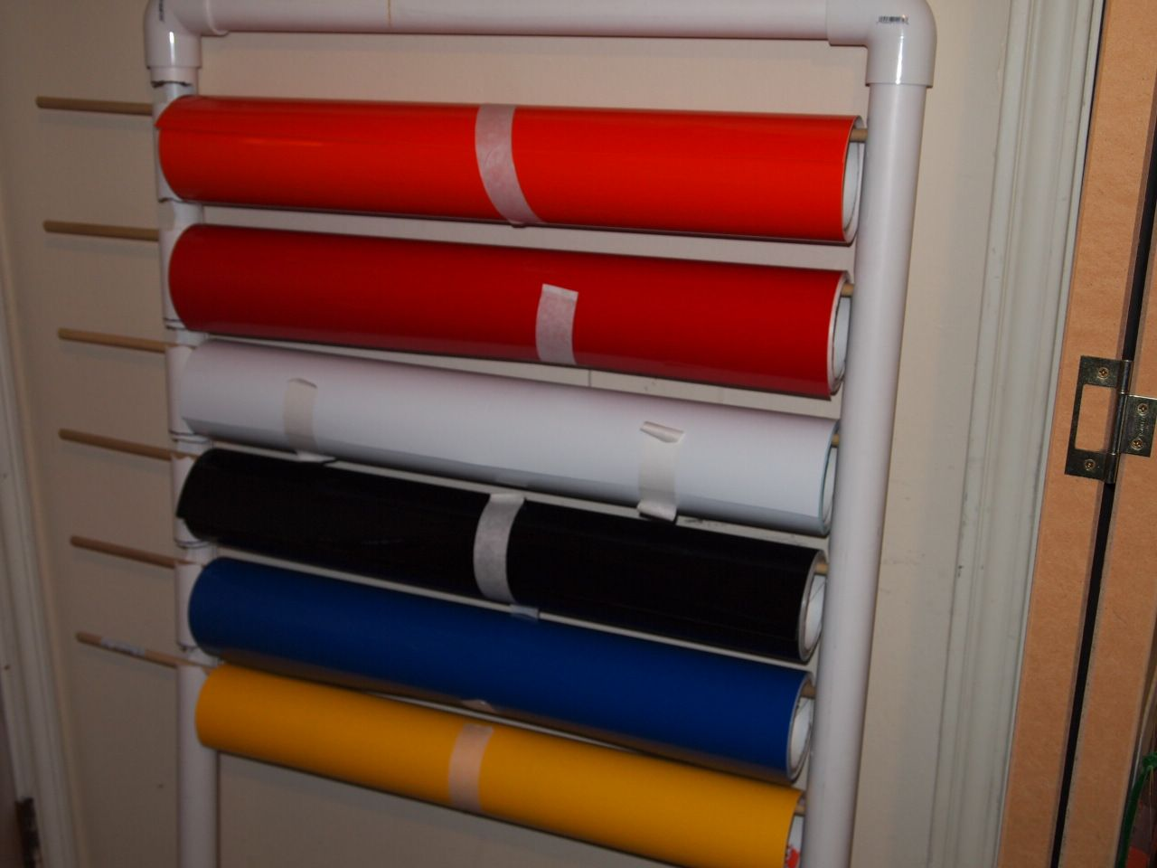 diy vinyl storage rack