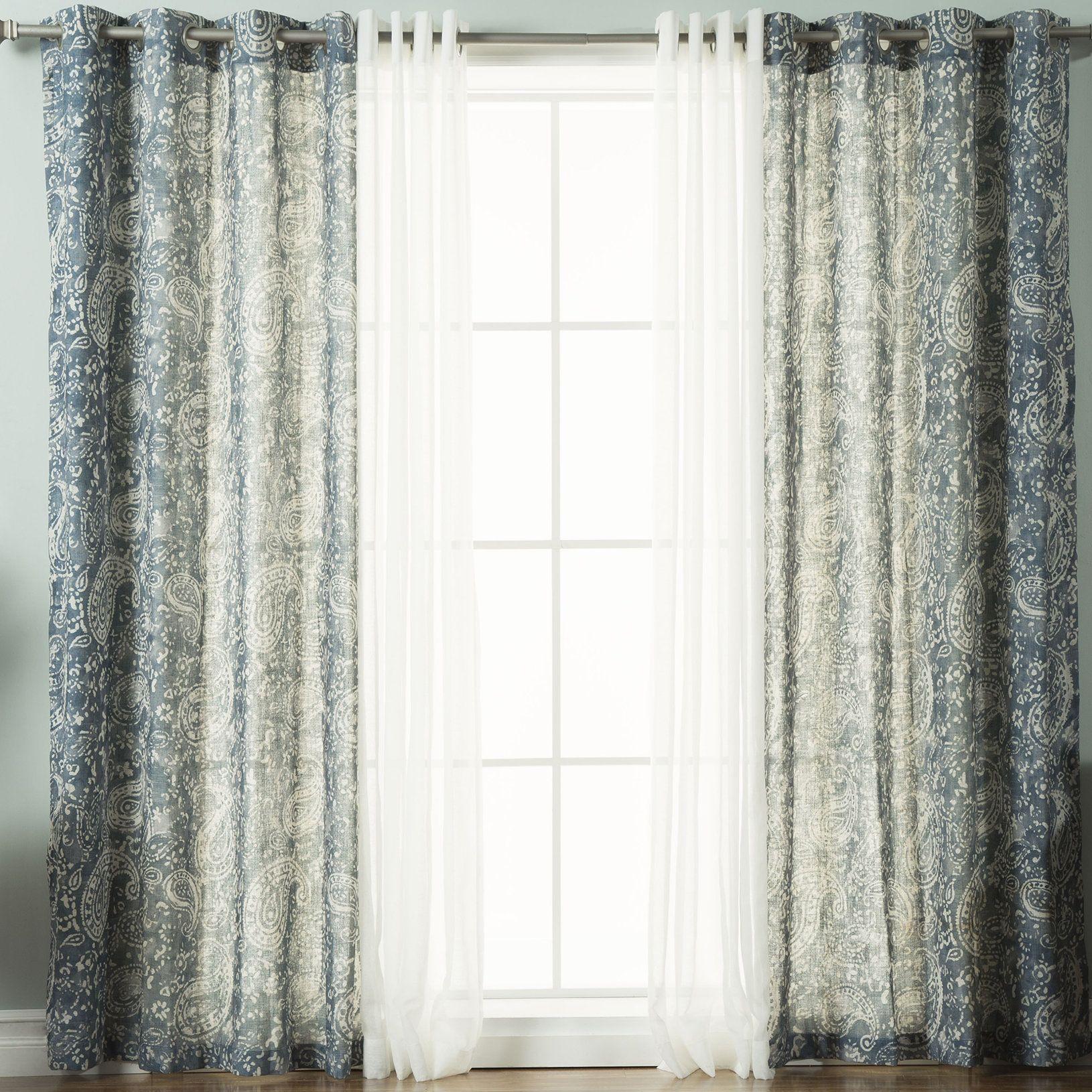 Rosendale piece paisley grommet window treatment set products
