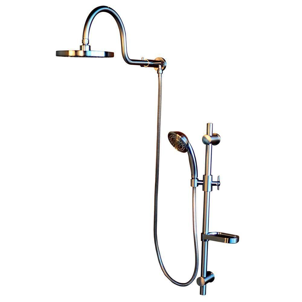 PULSE Showerspas AquaRain Retrofit Shower System with Hand Shower ...