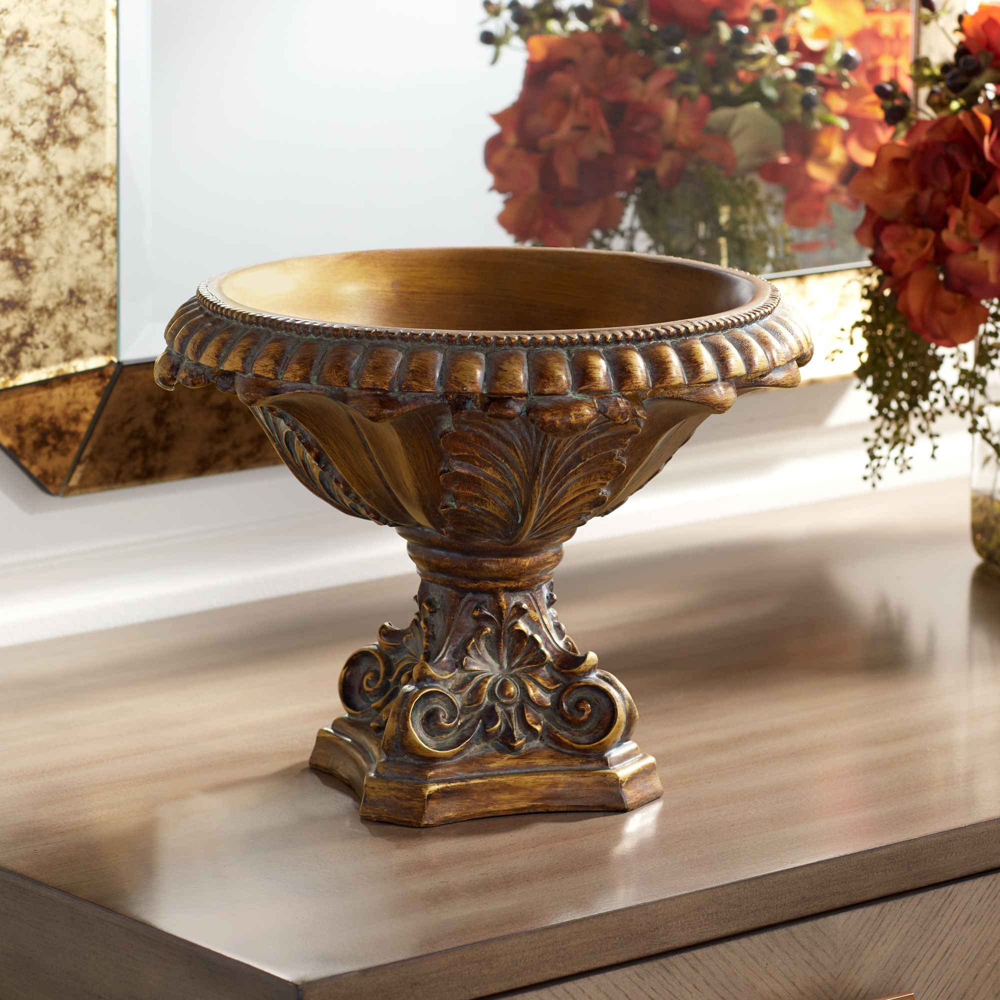Home with images decorative bowls bronze finish bowl
