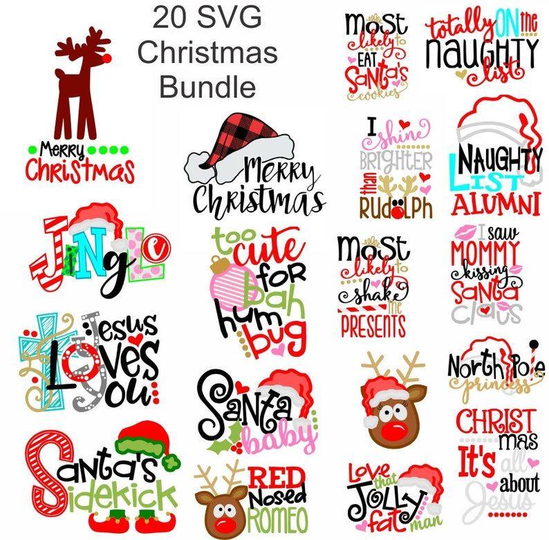 Black Friday Christmas SVG Bundle, 20 Christmas sv