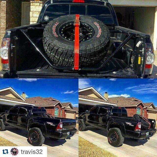 N Fab Sliding Tire Carrier For Tundra And Tacoma With