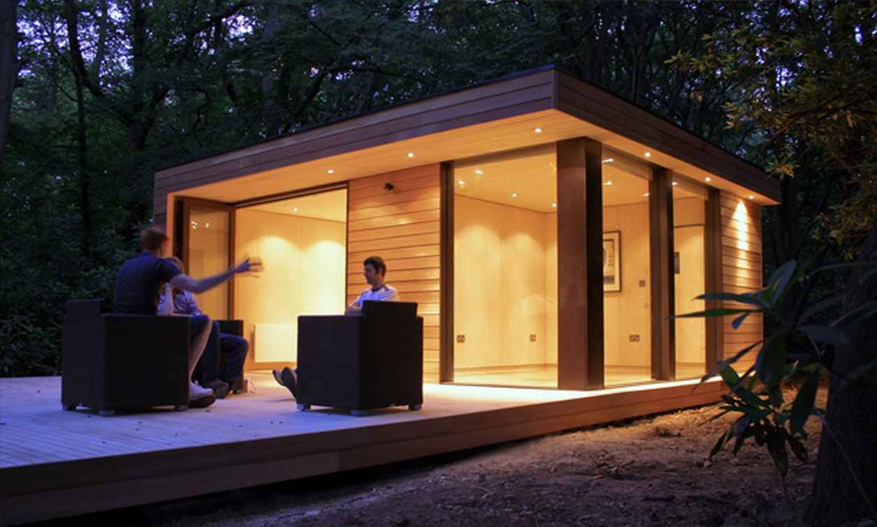 Small and Comfortable House Contemporary Garden Studios for a Comfy Retreat  beautiful home design designed by studio in.it, garden comfortable house,  ...