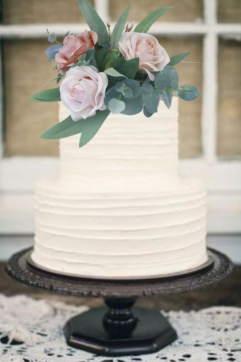 Champagne Gold Blush Pink Silk Wedding Cake Topper Cake Etsy In 2020 Publix Wedding Cake Wedding Cake Elegant Classy Diy Wedding Cake