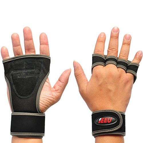 2FITNESS Workout Gloves with Wrist Support Ideal for Fitness WOD Weight lifting Gym Workout  Powerlifting Gray L *** Continue to the product at the image link.(This is an Amazon affiliate link and I receive a commission for the sales)