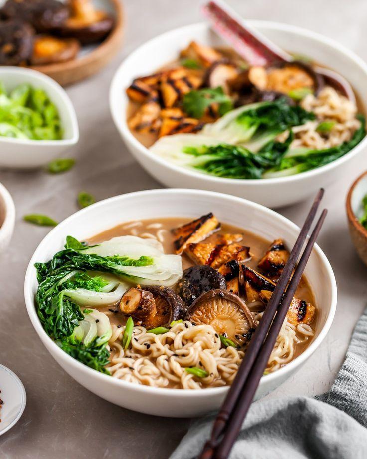 Vegan Mushroom Miso Ramen - Crumbs & Caramel