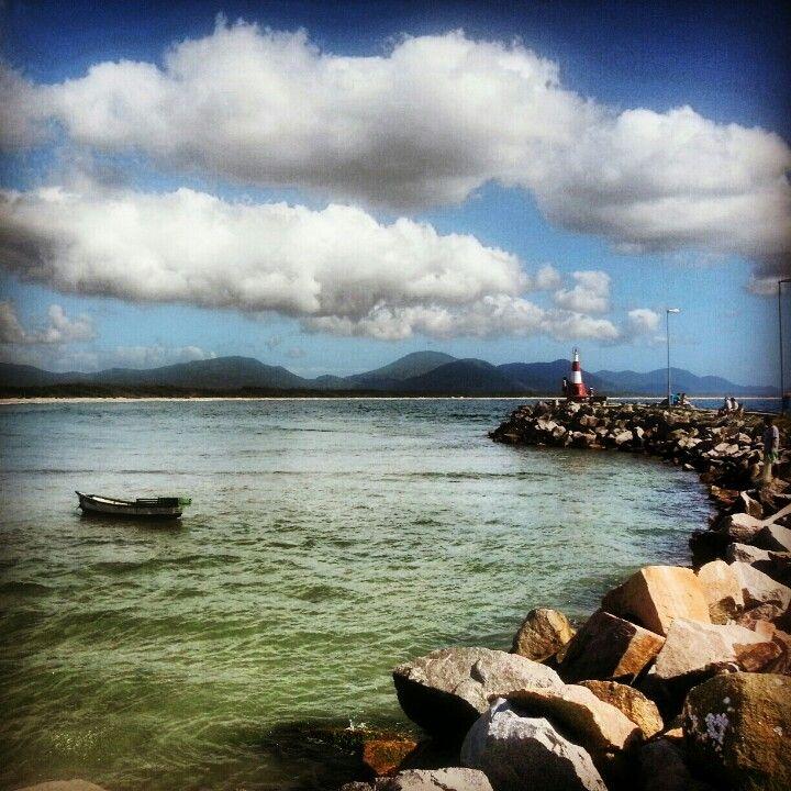 Praia da Barra da Lagoa in Florianópolis, SC
