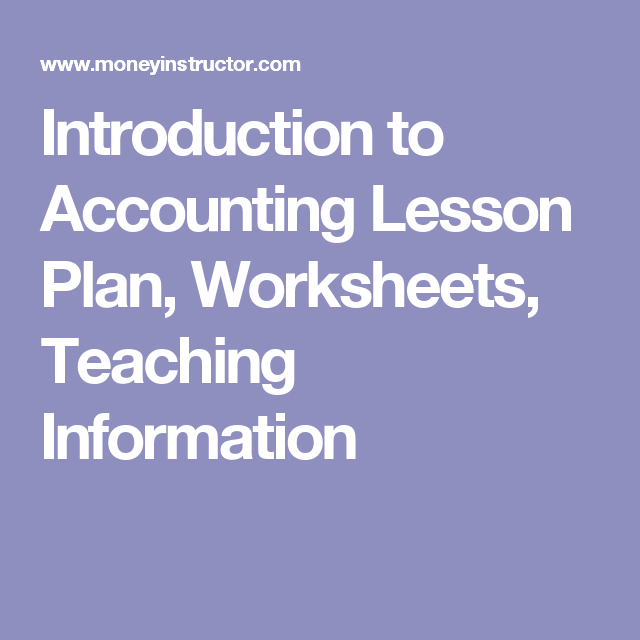 22+ Fun worksheet for introduction of accounting Images