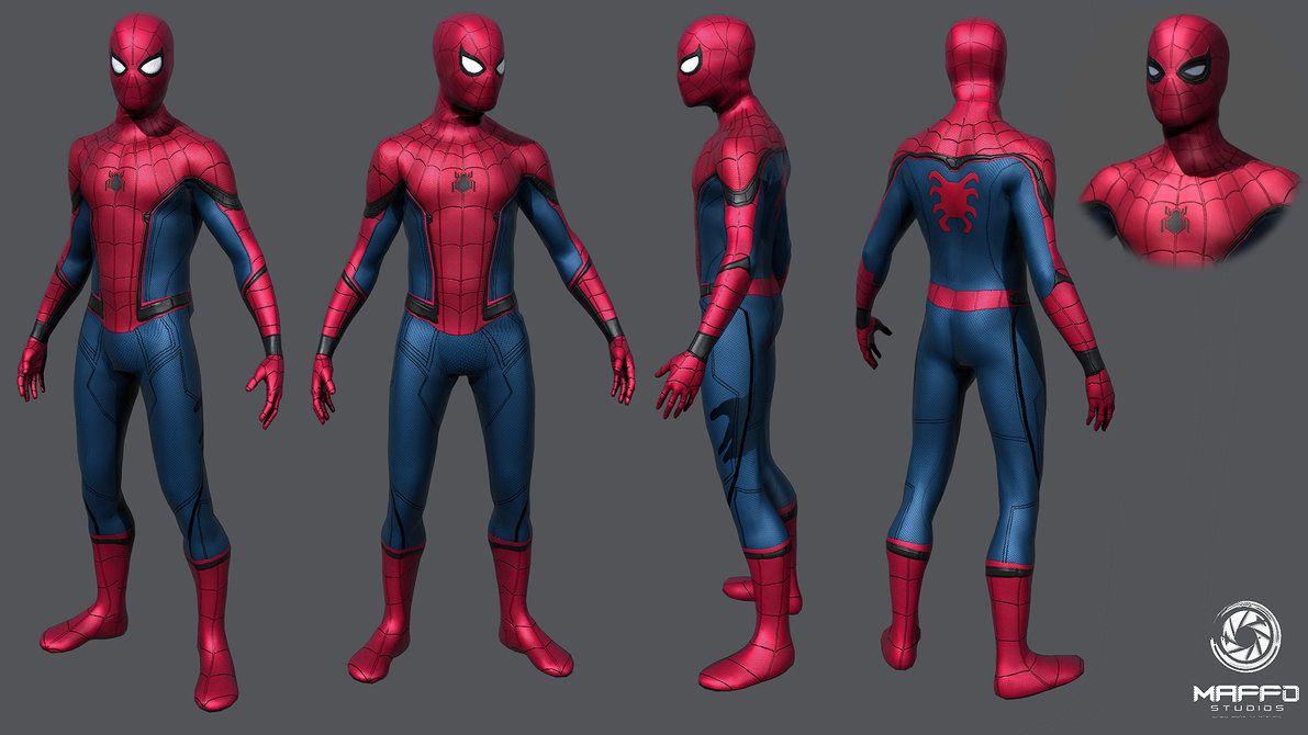 Civil War Spiderman 3d Model Spiderman Spiderman Civil War Marvel Spiderman