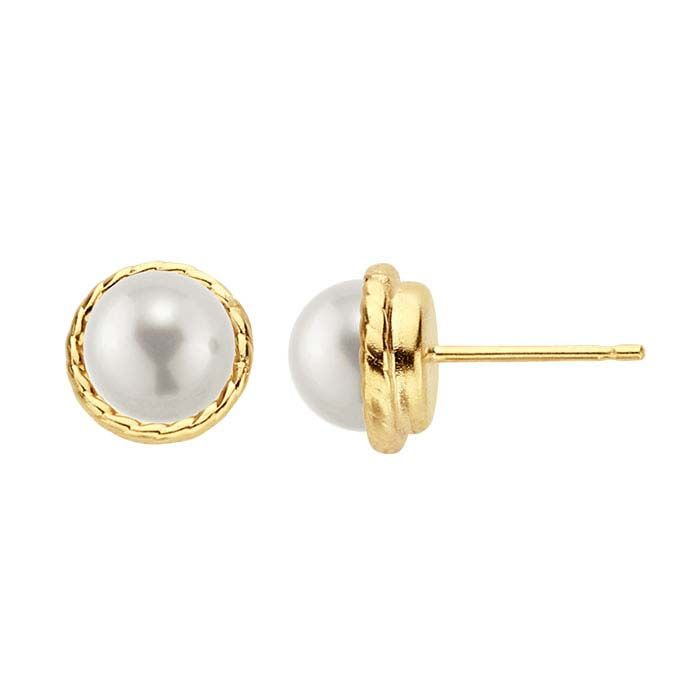 14 20 Yellow Gold Filled On Pearl Post Earring Mountings Made Of Affordable