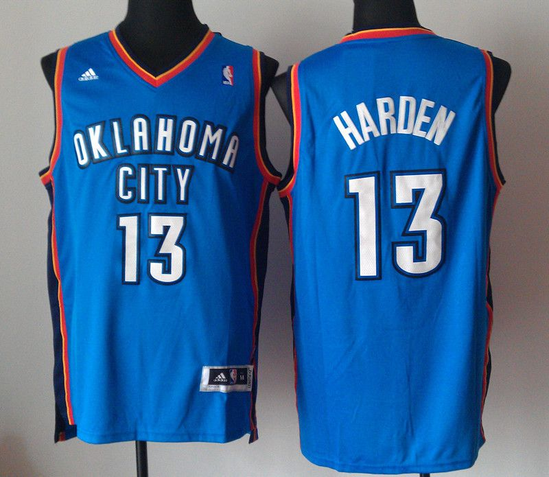 2014 Oklahoma City Thunder #13 James Harden Bule Men's NBA