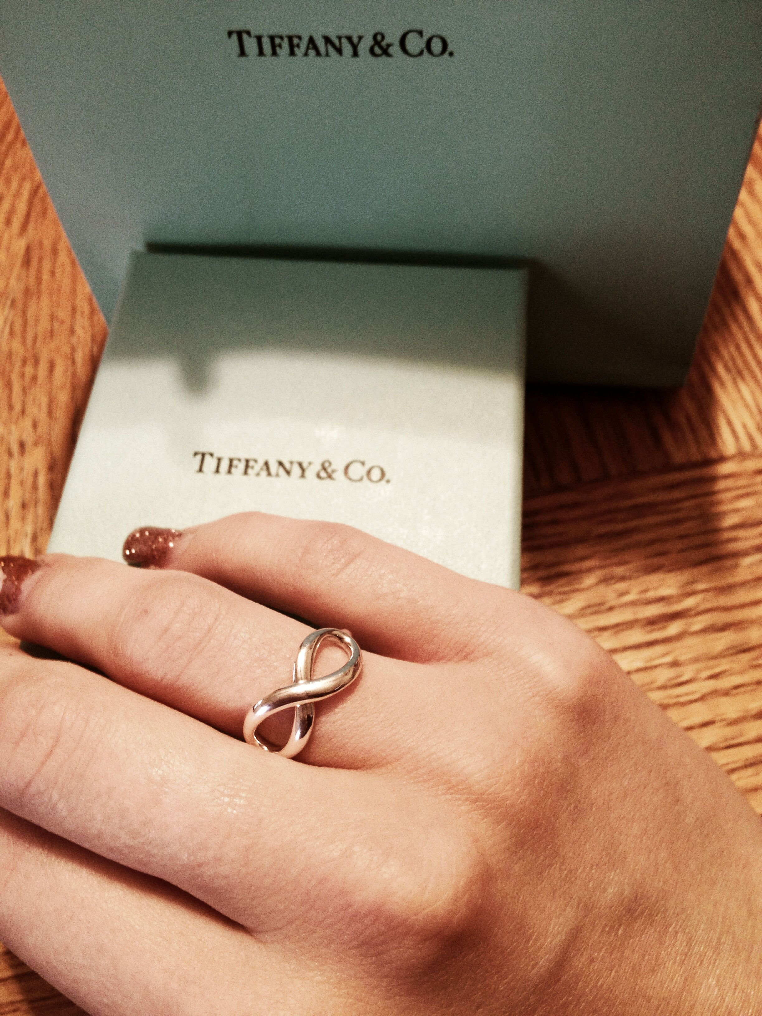 The promise ring my boyfriend gave to me last night in the