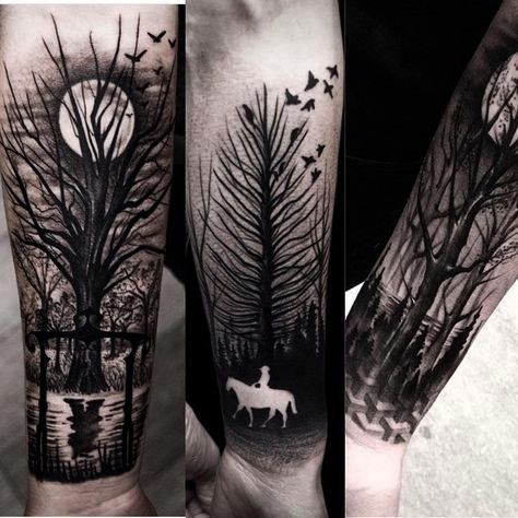Work by brunosantostattoo Follow  hashtag to become a featured artist OUR THEME THIS WEEK IS TREES Tag us in your tree tattoos toYay Work by brunosantostattoo Follow  has...