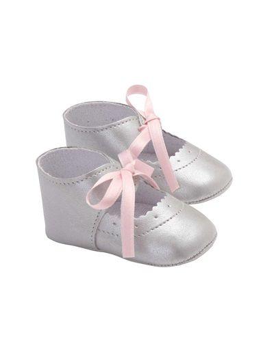 bc2e6ae74 Patucos plateados para bebé niña del 16 al 21  Zapatos para  ceremonias.  Boda elegante