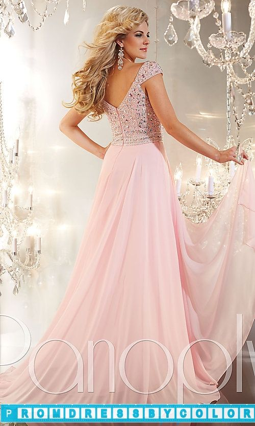179 Red Prom Dresses – Long V-Neck Gown with Cap Sleeves | Dresses ...