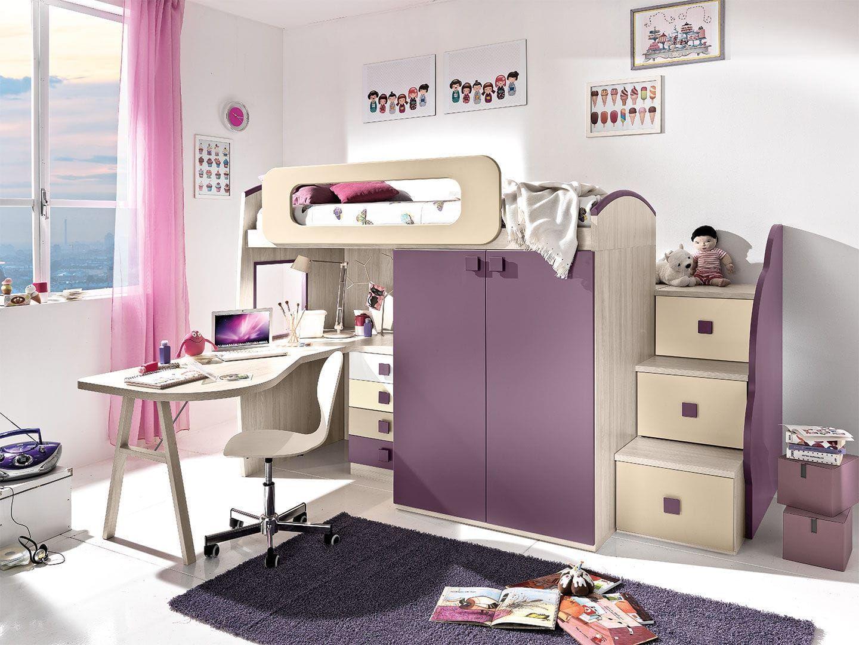 Einzelbett Kombiniert Modern F R M Dchen Cm38 Giessegi  # Giessegi Muebles Infantil