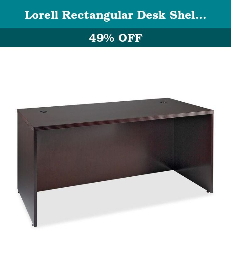 Lorell Rectangular Desk Shell, 60 by 30 by 29-Inch, Mahogany. 88000 Series Fluted Edge Veneer Furniture features hardwood veneers on all exposed surfaces, book matched to produce a uniform grain pattern. All surfaces are varnished for maximum durability. Drawer fronts are vertical grain matched. Grommets are standard on all work surfaces. Desk and credenza shells have full modesty panels. File drawers accommodate letter-size or legal-size filing. All drawers have ball-bearing full…