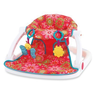 Fisher Price Sit Me Up Floor Seat In Pink Flower I Want This