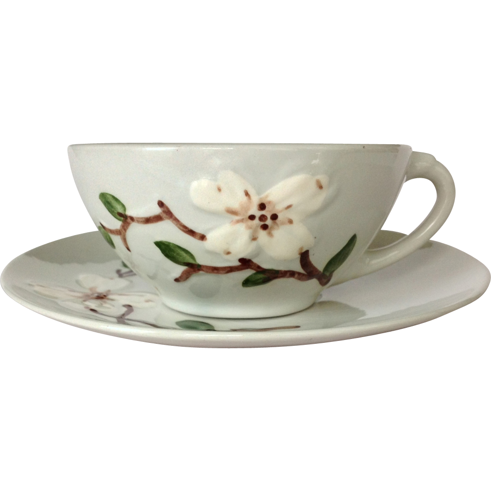 Ceramic Manufacturing Company California Pottery Orchard Ware Dogwood Cup And Saucer California Pottery Pottery Vintage Dinnerware