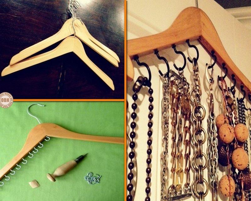 DIY Kleerhanger Jewelry Organizer