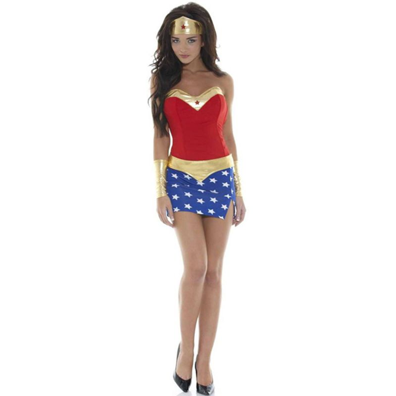 FREE Pic Wonder Woman Adult DELUXE Costume Size XS