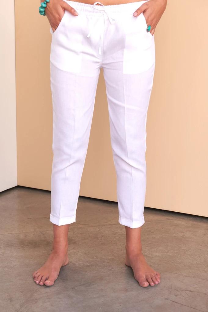 Julya Pants Pantalon De Tela Mujer Pantalones Elegantes Para Mujer Pantalones Pescadores